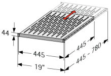 Profondeur variable : 445 - 780 mm
