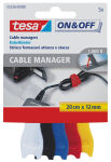 tesa VELCRO Cable Manager small, colorés, 12 mm x 200 mm