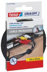tesa VELCRO attache-câble Cable Manager universel, noir,