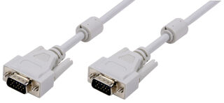 LogiLink Câble VGA pour moniteur, mâle - mâle, gris, 3 m