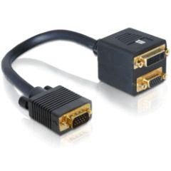 Adaptateur doubleur VGA Mâle / DVI 29 F & VGA F
