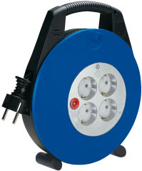 brennenstuhl Enrouleur Vario-Line, noir/bleu, câble: 10 m