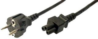 LogiLink Câble d'alimentation pour notebook, noir, 1,8 m
