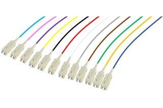 PIGTAIL OM3 SC/UPC LSOH 12 CONNECTEURS - 2m