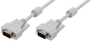 LogiLink Câble VGA pour moniteur, mâle - mâle, gris, 10 m