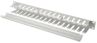 DIGITUS cage de gestion de câble, 1 U, gris clair (RAL 7035)