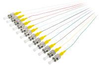 DIGITUS Kit de fibres optiques pigtail, ST Simplex, OS2, 2m,