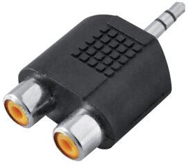 LogiLink Adaptateur audio, jack mâle 3,5 mm - 2x RCA femelle