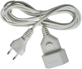 brennstuhl câble de rallonge, fiche mâle euro, blanc, 3 m