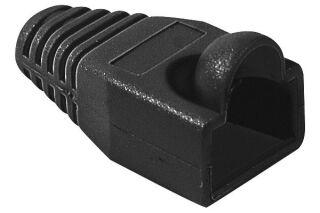 Manchon RJ45 noir snagless diamètre 6,5 mm (sachet de 10 pcs)