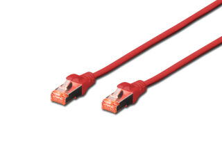 Câble RJ45 Cat.6 S/FTP 2 M, rouge-rouge
