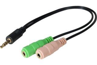 Adaptateur jack 3,5mm CTIA vers micro & casque stereo PC99