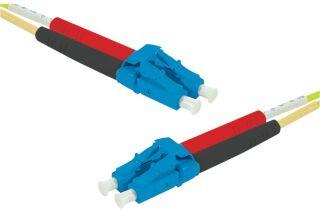 Jarretière optique duplex monomode OS2 9/125 LC-UPC/LC-UPC jaune - 20 m