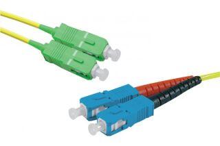 Jarretière optique duplex monomode OS2 9/125 SC-APC/SC-UPC jaune - 3 m