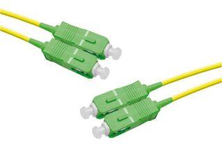 Jarretière optique duplex monomode OS2 9/125 SC-APC/SC-APC jaune - 1 m