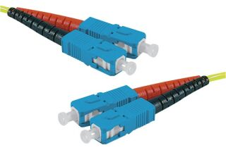 Jarretière optique duplex monomode OS2 9/125 SC-UPC/SC-UPC jaune - 1 m