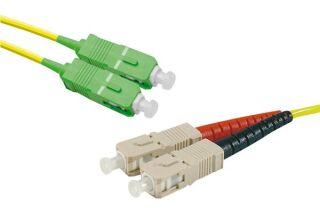 Jarretière optique duplex monomode OS2 9/125 SC-APC/ST-UPC jaune - 10 m
