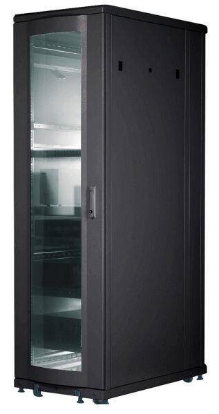 baie de brassage 19 pouces 26 u 1000 kg gris 600x1000x1400 porte vitr e. Black Bedroom Furniture Sets. Home Design Ideas