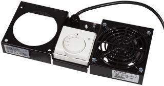 Toît de ventilation, 1 ventilateur, noir (326x135x39)