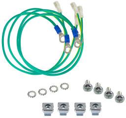 LogiLink Kit de câbles de mise à la terre pour baies 19'