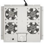 Toît de ventilation, 4 ventilateurs, gris clair (363x375x47)