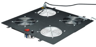 Toit de ventilation, 4 ventilateurs, noir (410x470x80)