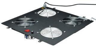 Toit de ventilation, 4 ventilateurs, gris clair (410x470x80)
