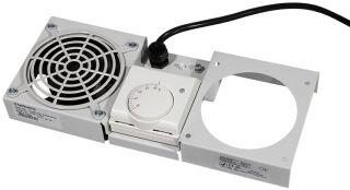 Toît de ventilation, 1 ventilateur, gris clair (326x135x39)