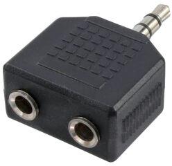 LogiLink Adaptateur audio, jack mâle 3,5mm - 2x jack femelle