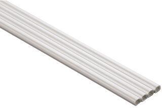 hama Set de passe-câbles, demi-rond, longueur: 1 m, blanc
