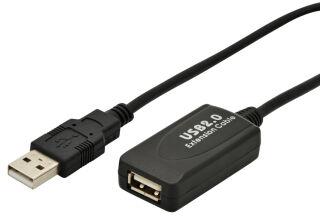 DIGITUS Câble rallonge USB 2.0 haute qualité, 5,0 m
