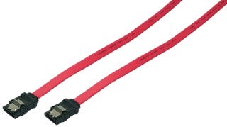 LogiLink Câble Serial ATA, 0,30 m, rouge