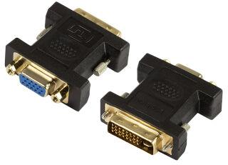 Logilink Adaptateur DVI mâle 24+5 pôles-VGA femelle 15 pôles