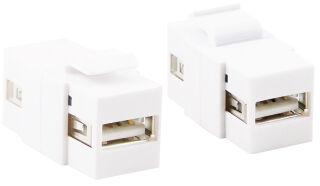 LogiLink Connecteur keystone USB 2.0, blanc