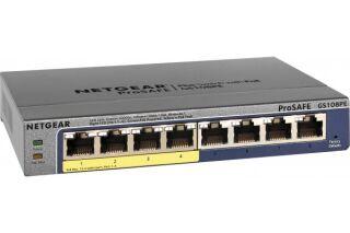 Switch Netgear GS108PE Prosafe 8 ports Gigabit + 4 ports PoE manageable