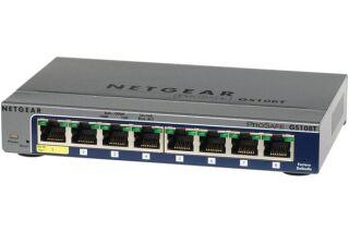 Switch Netgear GS1085 ProSafe 8 ports Gigabit manageable niveau 2