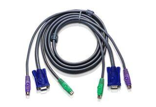 Câble KVM 2L-5002P/C PS2/VGA vers PS2/VGA 1.8m