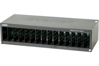 "Planet MC-1500 chassis 19"" 15 slot media convert."
