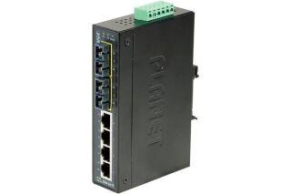 Switch Industriel Planet IFT-621T - 4 ports 10/100 + 2 ports fibre 100FX -45/75°
