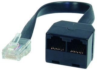 shiverpeaks BASIC-S Adaptateur ISDN en Y, noir, 0,1 m