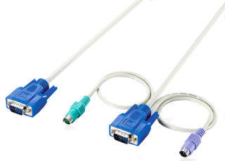 Accessoire, shiverpeaks BASIC-S KVM Kit de câbles pour PS/2, 1,8 m