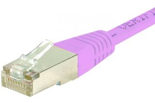 CORDON PATCH RJ45 S/FTP CAT6  Rose - 0,50 m