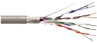 DIGITUS Câble d'installation, Cat.5e, SF/UTP, 100 m, gris