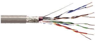 DIGITUS Câble d'installation, Cat.5e, SF/UTP, 305 m, gris