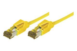 Cordon RJ45 sur câble catégorie 7 S/FTP LSOH snagless jaune - 0,5 m