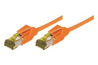 CORDON PATCH RJ45 S/FTP CAT 6a LSOH Snagless Orange- 0,30 m