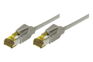 Cordon RJ45 sur câble catégorie 7 S/FTP LSOH snagless gris - 0,3 m