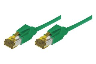 CORDON PATCH RJ45 S/FTP CAT 6a LSOH Snagless vert - 0,30 m