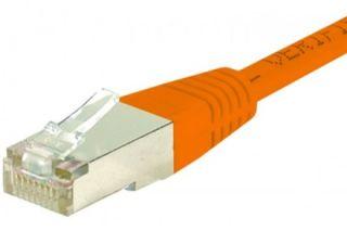 Cordon RJ45 catégorie 6 S/FTP orange - 0,15 m