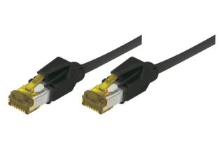 CORDON PATCH RJ45 S/FTP CAT 6a LSOH Snagless Noir- 0,50m